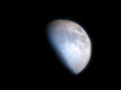 Sistema solar la luna for Hoy es cuarto creciente